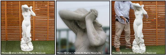 大型 石像 恥じらいのヴィーナス 婦人像