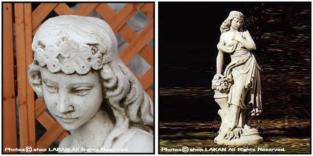 エレナ 春の少女 ガーデンオブジェ ST5601 石像 女神像 ビーナス像 洋風庭園 オブジェ