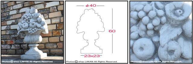 石像 オブジェ 洋風ガーデン オーナメント イタリア石造 彫像 フルーツ 果物置物 ガーデンオブジェ