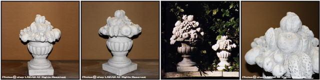 彫像 石像 イタリア石造 洋風ガーデン ガーデンオブジェ フルーツ オブジェ オーナメント 果物置物