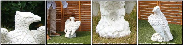 ガーデンオブジェ 海辺の鷲 オブジェ