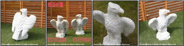 石造置物 海辺の鷲 オブジェ