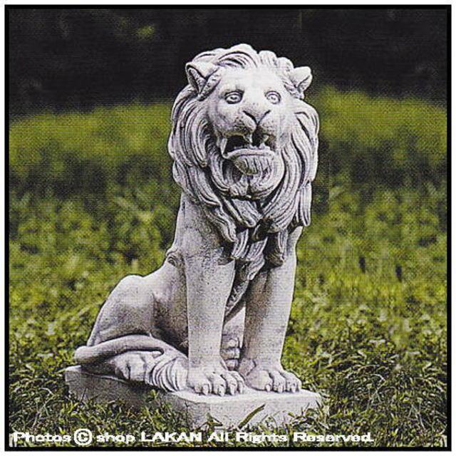 アラビアのライオン 石像 洋風ガーデン