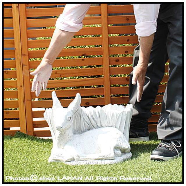 石造 動物像 庭 置物 彫像