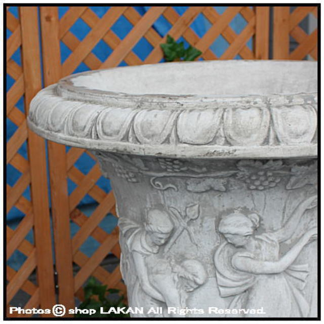 ネローネ 石造 花鉢 カップ型