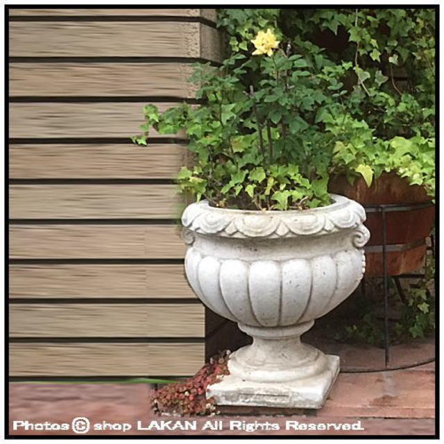 石造 花鉢 洋風 ガーデン クラシック庭園
