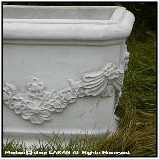 彫刻 プランター 石造 花鉢