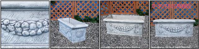 石造花鉢 石像オーナメント ガーランドプランター