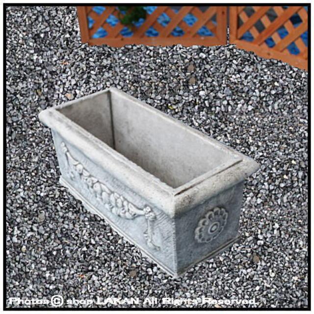 横長型 ガーランドプランター 石造 花鉢