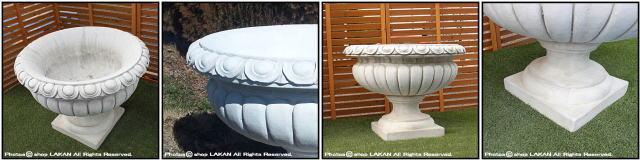 イタリア 彫像 イタルガーデン社 石造花鉢 VR3545