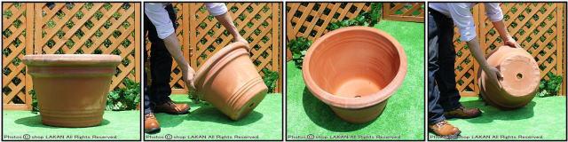 高級テラコッタ 輸入植木鉢 トスカーナ 大型植木鉢 ベーシックデザイン アンティーク調リバティポット ハンドメイド