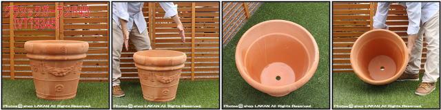 人気柄 クラシックガーランド 輸入植木鉢 トスカーナ 高級テラコッタ 大型植木鉢 ハンドメイド