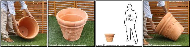 大型植木鉢 クラシックガーランド 輸入植木鉢 人気柄 ハンドメイド 高級テラコッタ トスカーナ