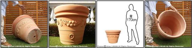 クラシックガーランド 大型植木鉢 輸入植木鉢 人気柄 ハンドメイド 高級テラコッタ トスカーナ