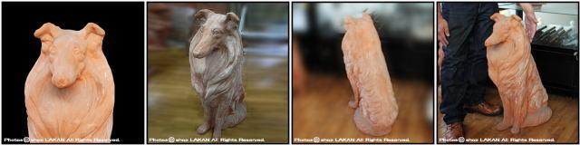 動物置物 番犬 コリー犬 陶器オブジェ イタリア製 老舗テラコッタメーカー ガーデンオブジェ ヴァセリエ トスカーナ